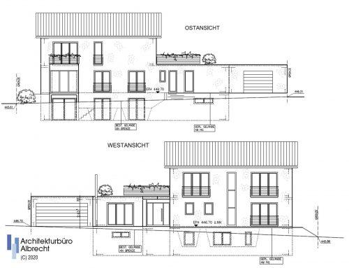 Neubau eines Einfamilienhauses mit Einliegerwohnung und Doppelgarage
